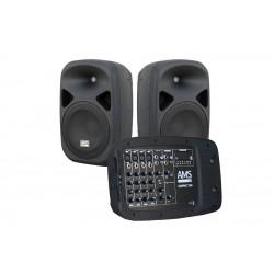 Sistema portátil amplificado AMS COMPACT200 (2 x 150W)...