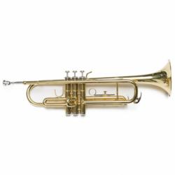 Trompeta Amadeus TP807L Sib Lacado dorado y estuche mochila